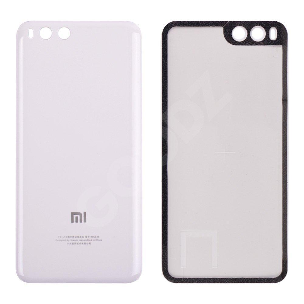 Задняя крышка Xiaomi Mi6, цвет белый, пластик