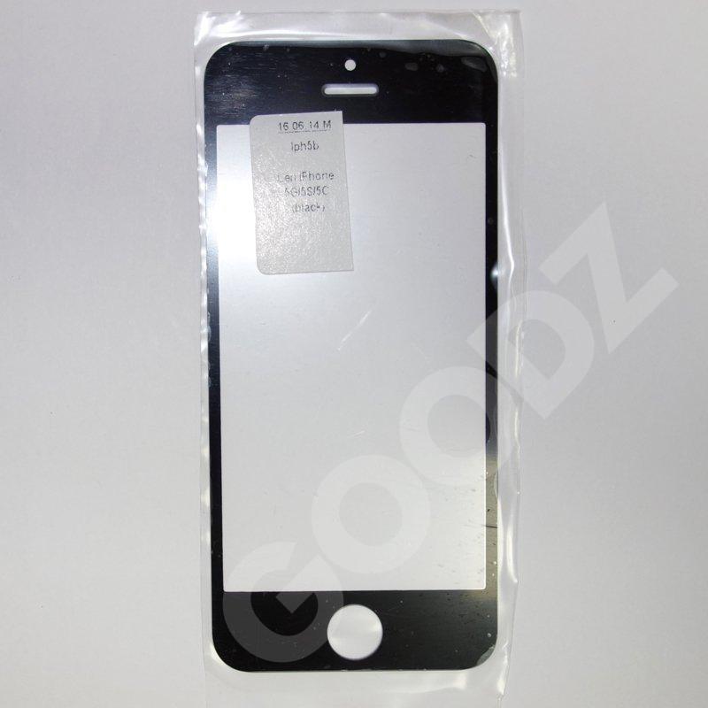 Стекло корпуса для iPhone 5G, 5S, 5C, цвет черный, оригинал