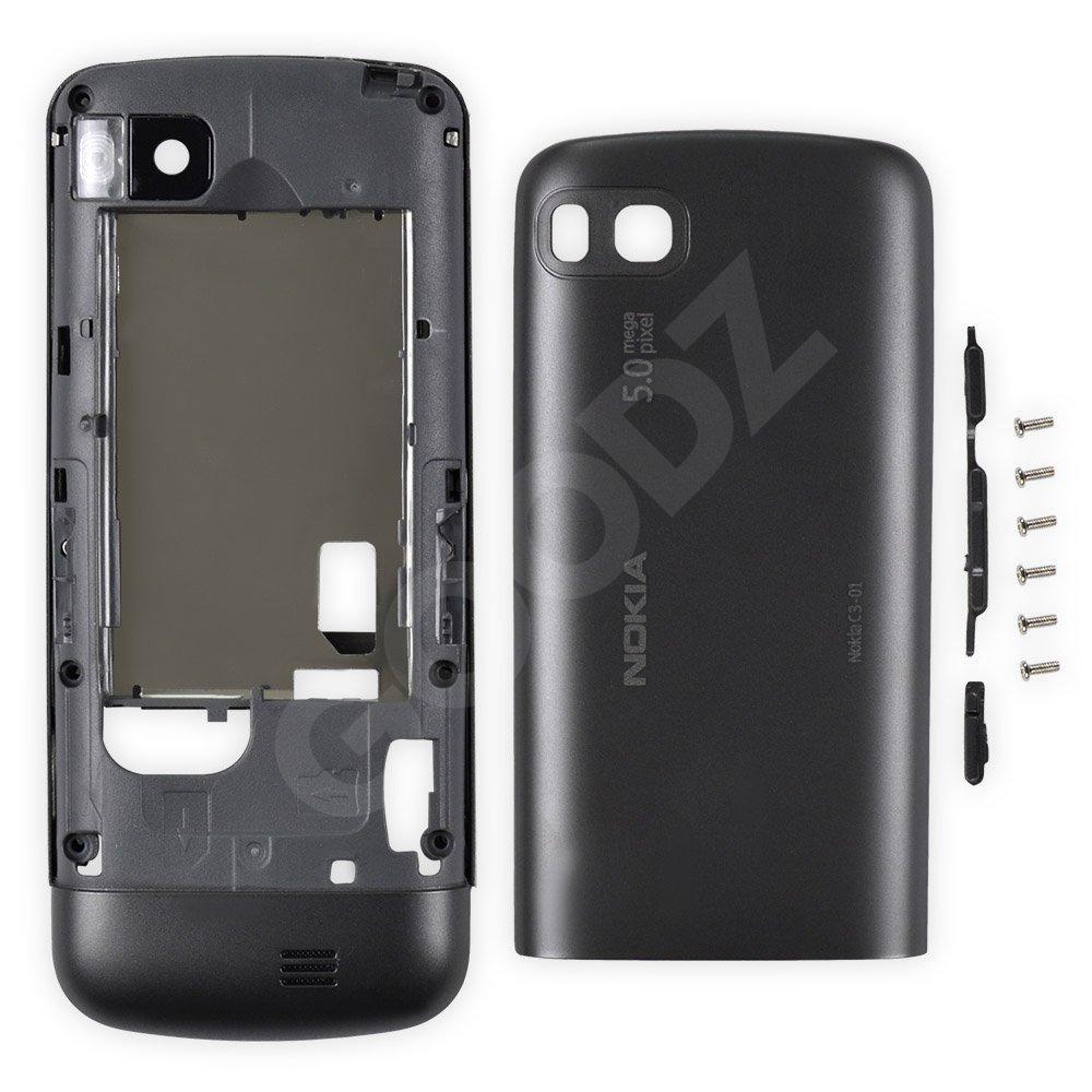 Корпус Nokia C3-01, цвет черный