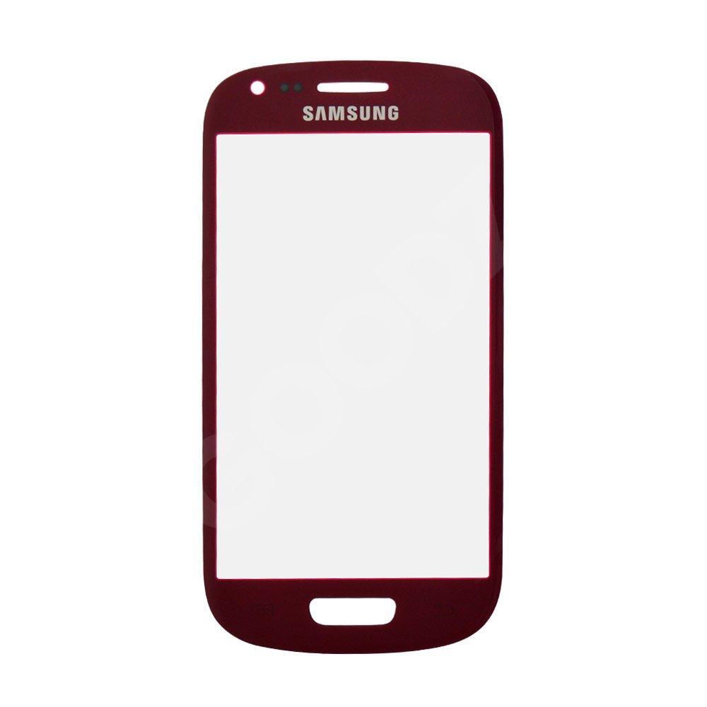 Стекло корпуса для Samsung i8190 Galaxy S3 mini, цвет красный