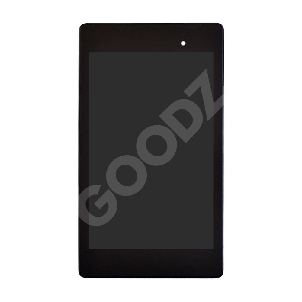 Дисплей Asus ME571K Google Nexus 7 с тачскрином и рамкой в сборе (2013) rev. 2 (версия 3G), цвет черный