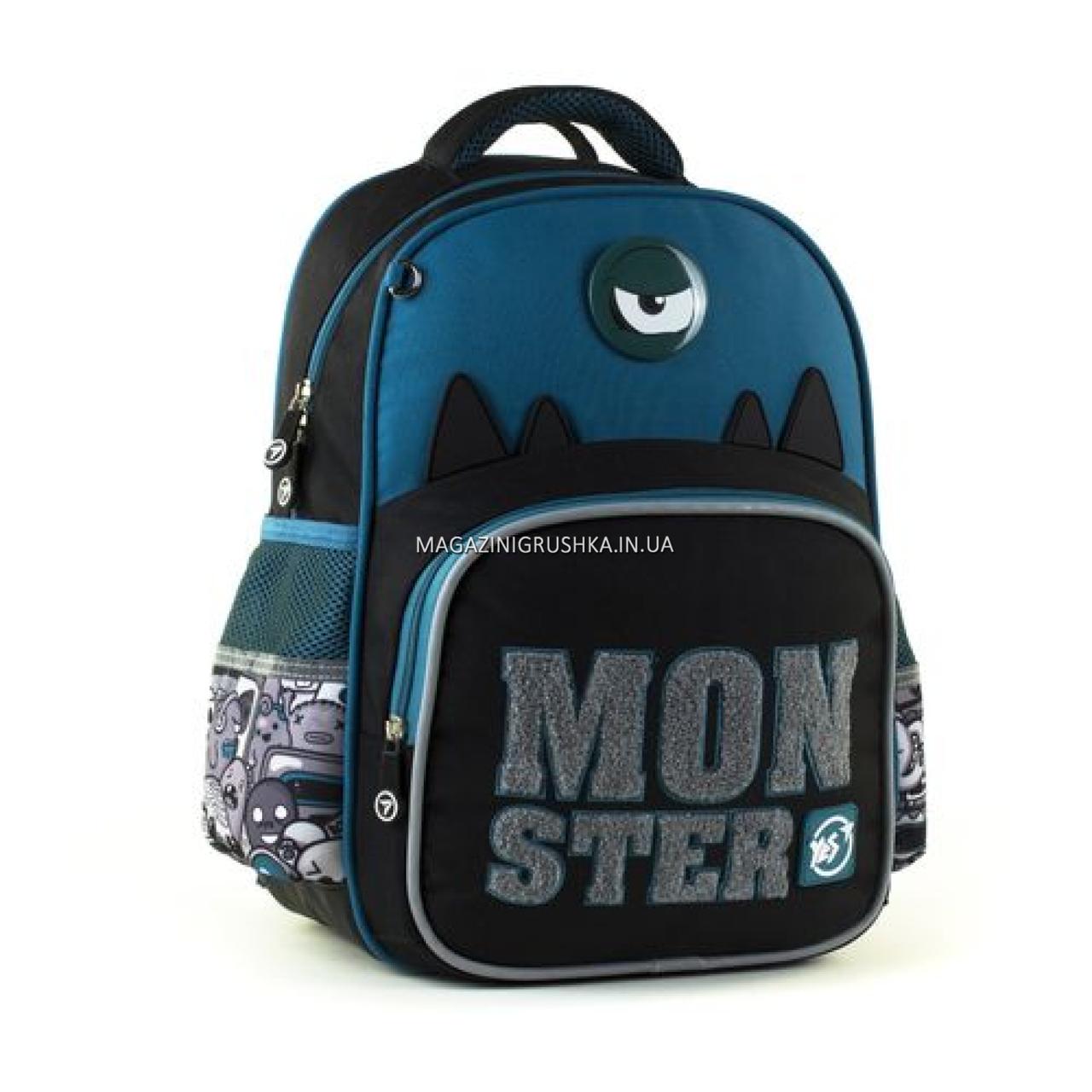 Рюкзак шкільний YES S-31 Monster чорно-синій (558200)