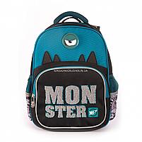 Рюкзак шкільний YES S-31 Monster чорно-синій (558200), фото 2
