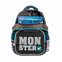 Рюкзак шкільний YES S-31 Monster чорно-синій (558200), фото 6