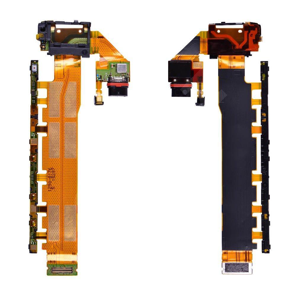 Шлейф для Sony Xperia Z3 E6533, E6553 с кнопкой включения, разъемом зарядки, кнопками регулировки громкости