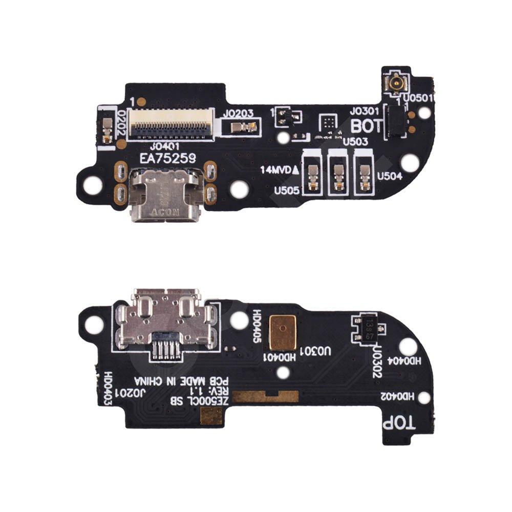 Разъем зарядки Asus Zenfone 2 (ZE500CL) с нижней платой, rev 1.1