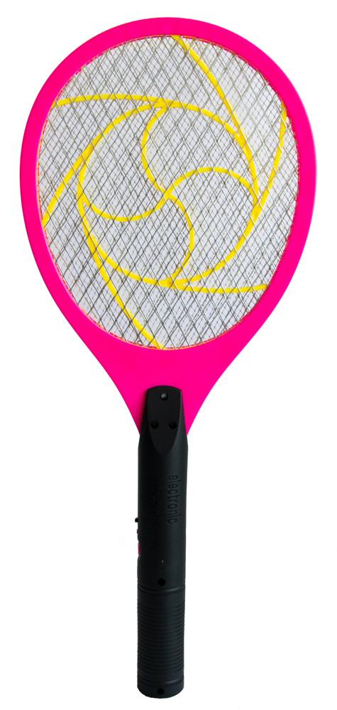 Ракетка мухобойка электрическая - мухобойка Розовая, электромухобойка   мухобійка електрична (GK)