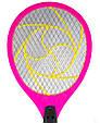 Ракетка мухобойка электрическая - мухобойка Розовая, электромухобойка   мухобійка електрична (GK), фото 2
