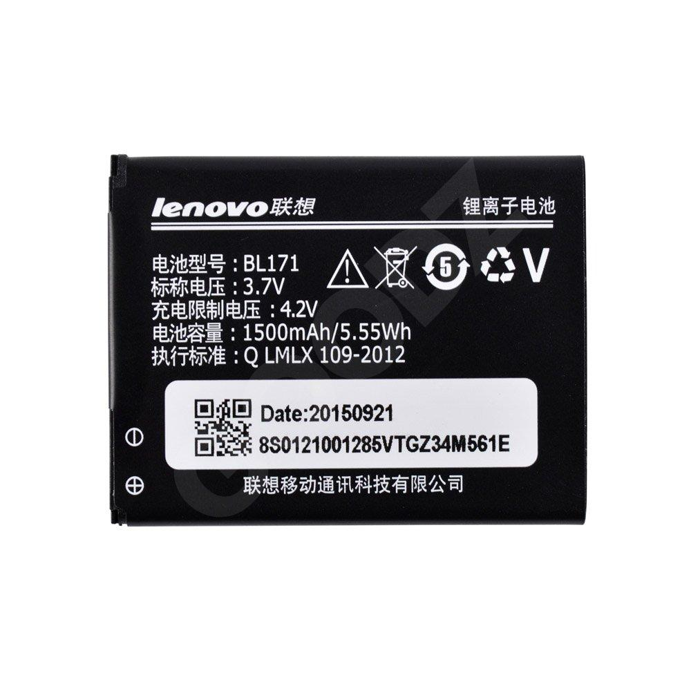 Аккумулятор для Lenovo A356, A368, A370e, A376, A390, A390T, A500, A60, A65 (BL171), емкость 1500 мАч,