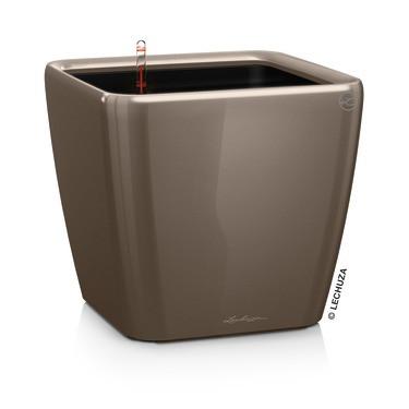 Умный вазон QUADRO LS 35 серо-коричневый блестящий