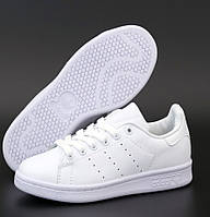 "Женские кроссовки Adidas Stan Smith Womens ""White"" кожаные белые 36-40р. Живое фото. (Реплика ААА+)"