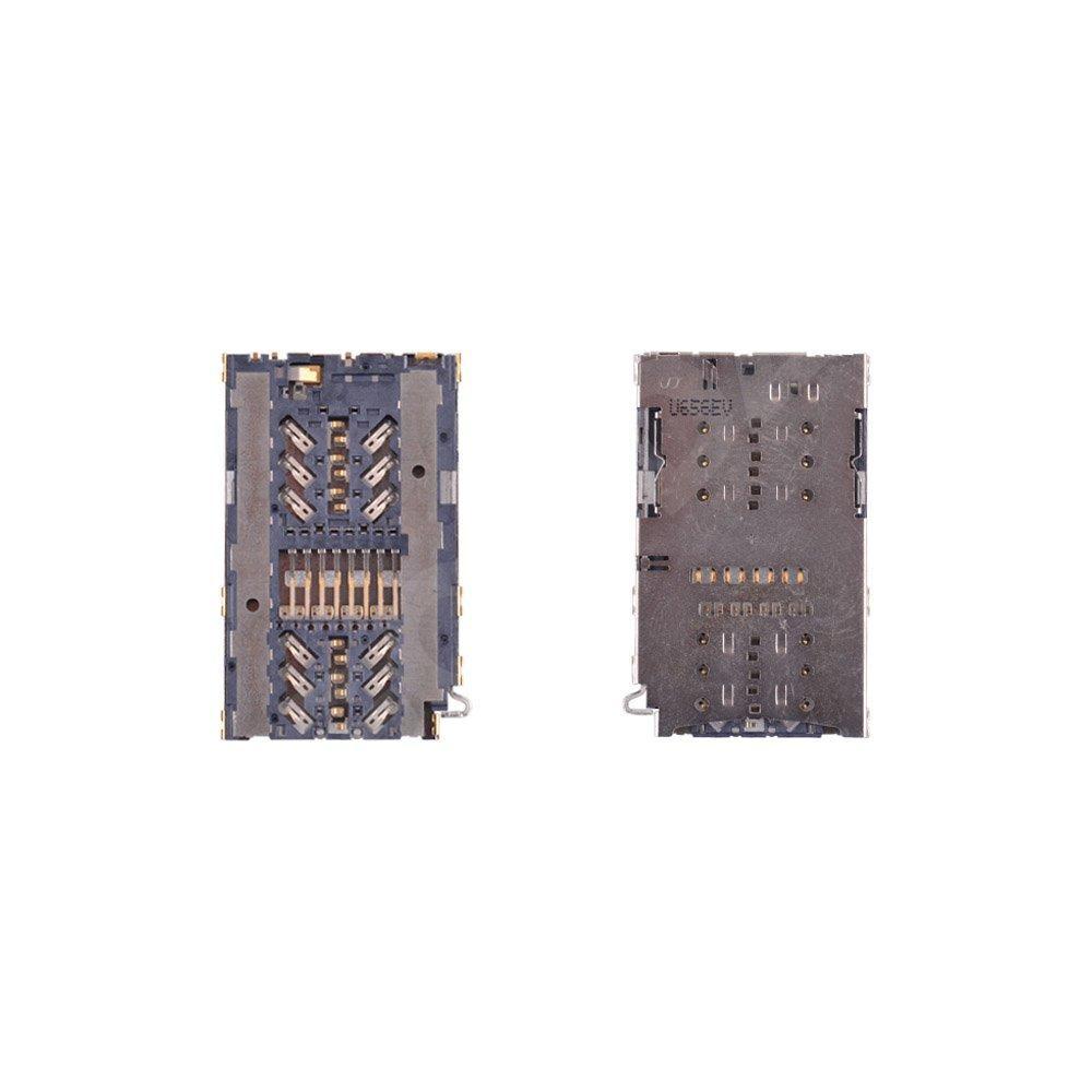 Разъем сим карты и карты памяти для Samsung A320F, A520F, G930F, G935F, G950F, G955F, N930, N950