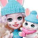 Набор Enchantimals Зимний коттедж Лыжное шале и кукла Кролик GJX50, фото 4