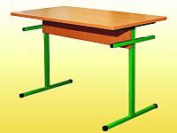 Стол для столовых, прямоугольный, на металлическом каркасе, 4-местный, ростовой группы № 6 — 1220х600х750 мм