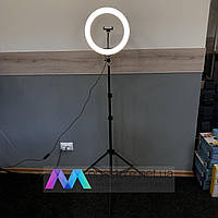 Кольцевая лампа со штативом на 2м для телефона 33 см селфи кольцо световое кольцевой светодиодное led блогеров