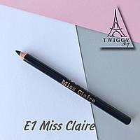 Водостійкий олівець для очей E1 Miss Claire