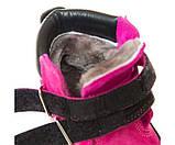 Зимние ботинки Panda 500(312) малиновые, фото 5