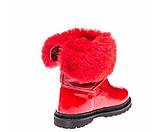 Зимние ботинки Panda 1300(02) красные лак, фото 2