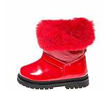 Зимние ботинки Panda 1300(02) красные лак, фото 3