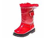 Зимние ботинки Panda 1300(02) красные лак, фото 4