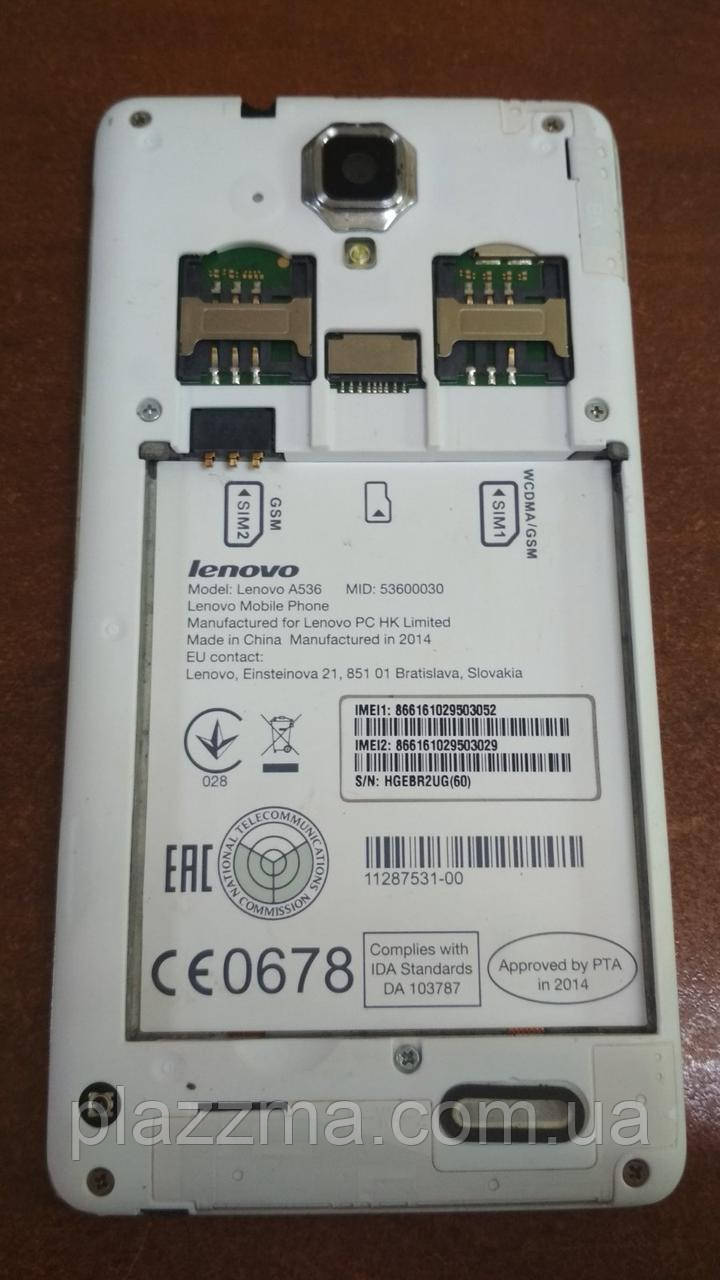 Смартфон Lenovo A536 на запчасти или восстановление!