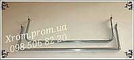 Дуга в рейку хромированная овальная 0,90 см.