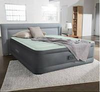 Надувная двухспальная кровать 152*203*46см со встроенным насосом 64906