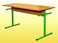 Стол для столовых, прямоугольный, на металлическом каркасе, 6-местный, ростовой группы № 6, 1500х600х750 мм.