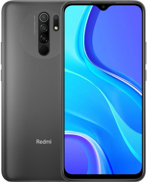"Xiaomi Redmi 9 3/32Gb Grey 6.53"" 5020мАч, квад камера, NFC, Type-C ЕВРОПА UA UCRF смартфон ксяоми редми 9"