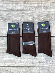 Чоловічі шкарпетки антибактеріальні Монтекс високі бамбукові 41-44 12 шт в уп коричневі