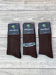 Мужские носки антибактериальные Монтекс высокие бамбуковые 41-44 12 шт в уп коричневые