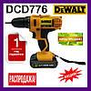 Шуруповерт DeWALT DCD776. Дрель DeWALT DCD776. Сделано в Румынии с набором. Гарантия 1 год