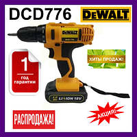 Шуруповерт DeWALT DCD776. Дриль DeWALT DCD776. Зроблено в Румунії з набором. Гарантія 1 рік