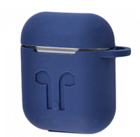 Чехол для наушников AirPods Silicone Case for AirPods Dark Blue Футляр для наушников