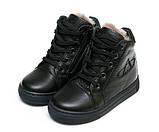 Ботинки зима AlilA Z343SR шнурок черные (22-25), фото 4