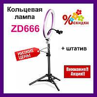 Кольцевая лампа ZD666 LED лампа 26 см.