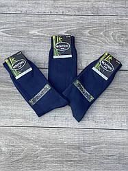 Шкарпетки Монтекс чоловічі високі бамбук антибактеріальні 41-44 12 шт в уп сині