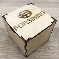 Коробочка деревянная с логотипом Forsining
