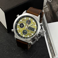 AMST 3003 Silver-Green Brown Wristband
