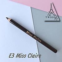 Водостійкий олівець для очей E3 Miss Claire