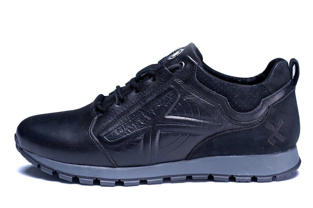 Мужские кожаные кроссовки из натуральной кожи на шнуровке Kristan sport