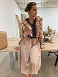 Платье миди с расклешенной юбкой и оборками на груди 34031518, фото 4