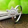 Кольцо Xuping 14743 размер 18 белые фианиты ширина 17 мм вес 2.0 г позолота Белое Золото, фото 3