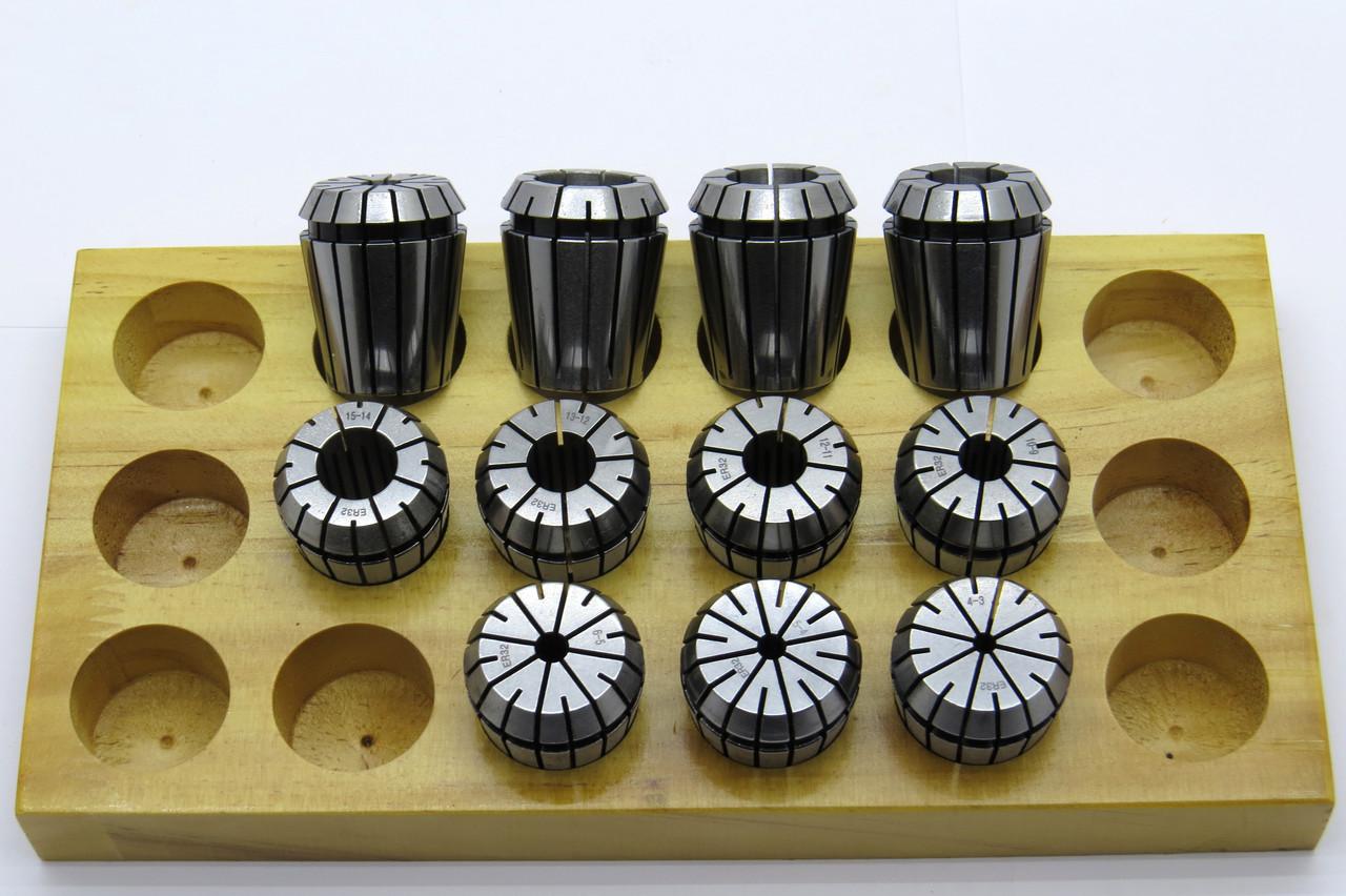 Набор зажимных Цанг ER32 диапазон 2-20мм а=0,008 11шт DIN6499B