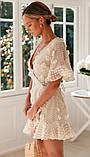 Летнее платье на запах с короткими расклешенными рукавами 78031521, фото 3