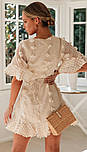 Літнє плаття на запах з короткими розкльошеними рукавами 78031521, фото 4