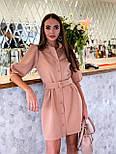 Коротке плаття - сорочка з рукавами - ліхтариками до ліктя і гудзиками по всій довжині 36031526, фото 2