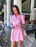 Коротке плаття - сорочка з рукавами - ліхтариками до ліктя і гудзиками по всій довжині 36031526, фото 5