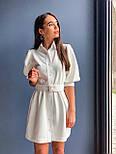 Коротке плаття - сорочка з рукавами - ліхтариками до ліктя і гудзиками по всій довжині 36031526, фото 6