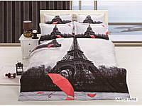 Постельное бельё ARYA  Сатин 3D Wınter Paris - евро